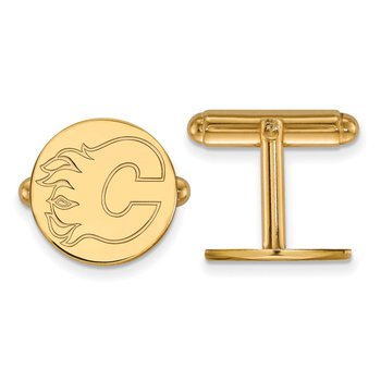 Gold Calgary Flames NHL Cuff Links
