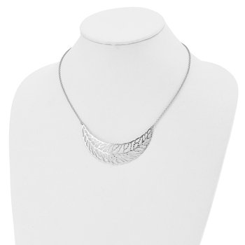 Leslie's SS Rhodium Plated Fancy Necklace