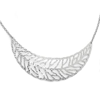 Leslie's SS Rhodium-plated Fancy Necklace