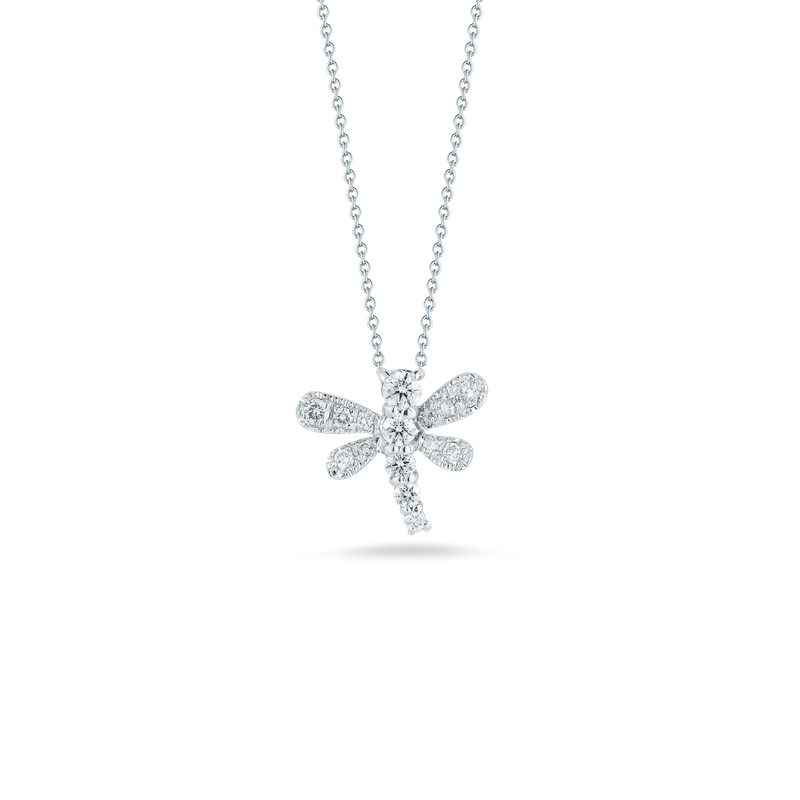 Roberto Coin 18Kt Gold Diamond Dragonfly Pendant