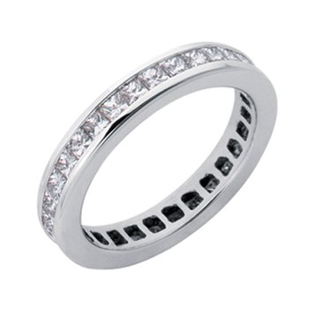 Princes Cut Eternity Band