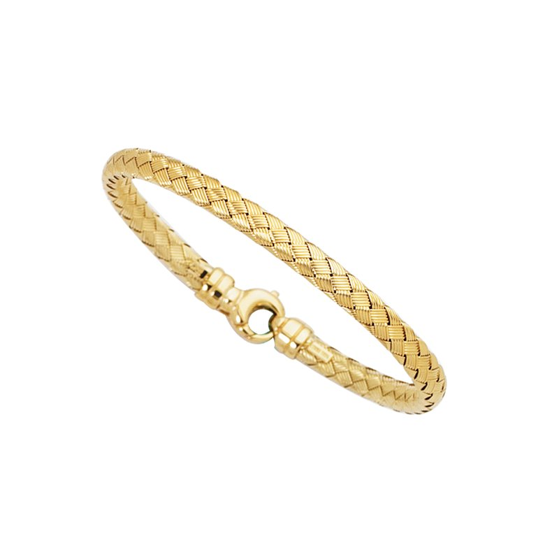 Royal Chain 14K Gold Medium Weaved Bangle