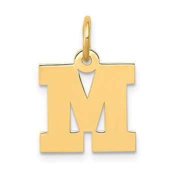 14k Small Block Letter M Initial Charm
