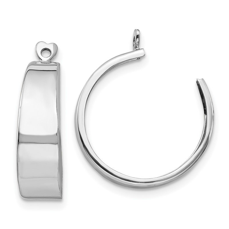 Quality Gold 14k White Gold Polished Hoop Earring Jackets