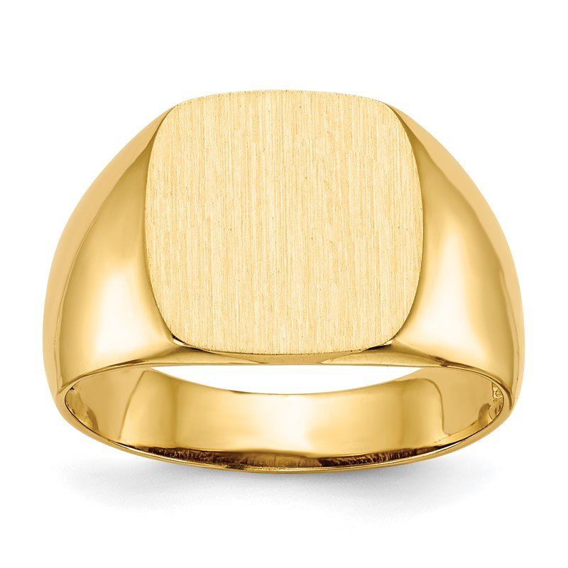 Quality Gold 14k 12.5x12.5mm Open Back Men's Signet Ring