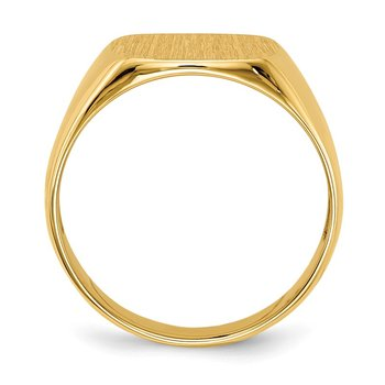 14k 12.5x12.5mm Open Back Men's Signet Ring