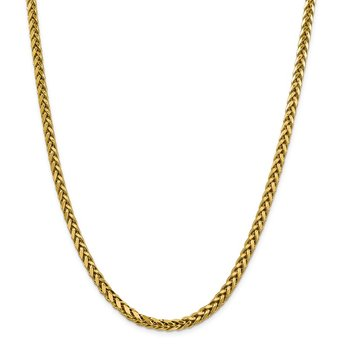 14k 5mm Semi-solid D/C Wheat Chain