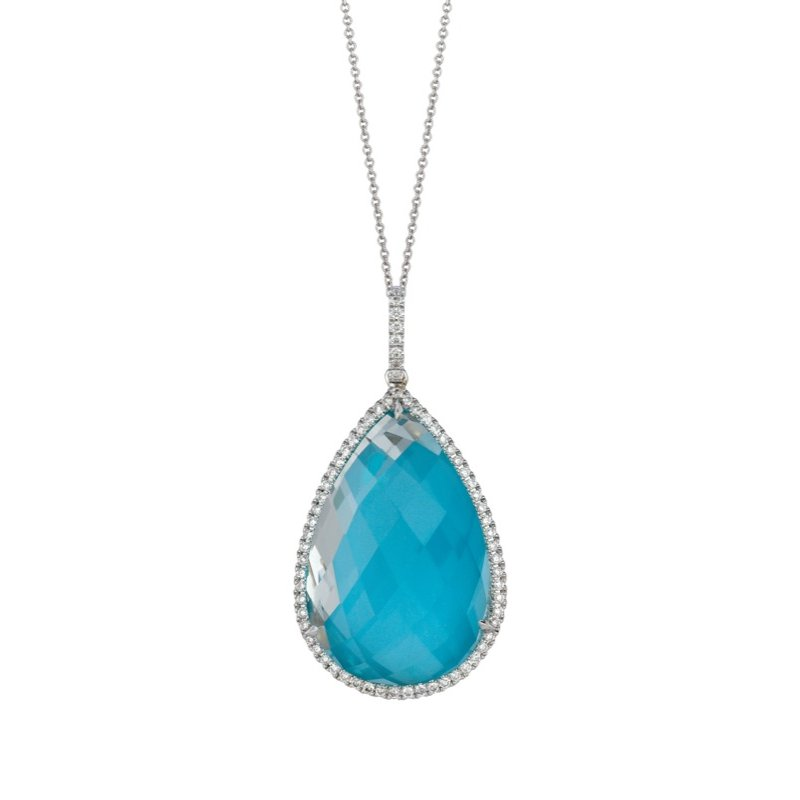 MAZZARESE Couture St. Barths Blue Turquoise Pendant