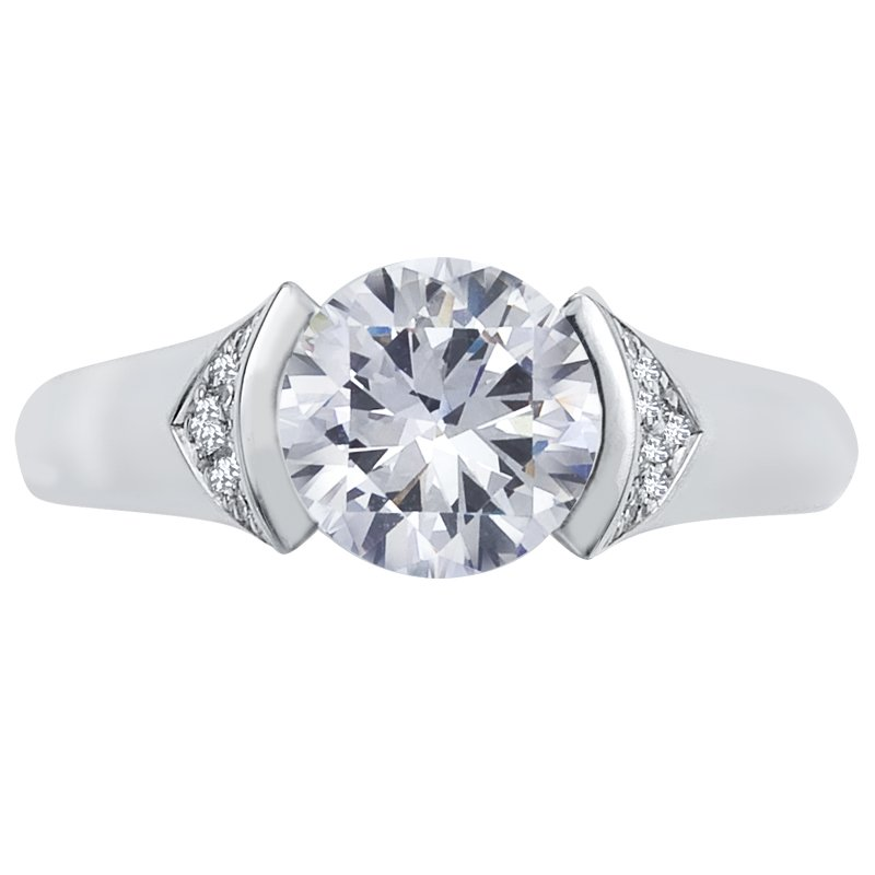 Mark Patterson Half Bezel Diamond Engagement Ring