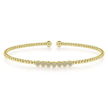 14K Y.Gold Diamond Bangle