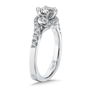 Modernistic Collection Six-Prong Criss Cross Engagement Ring in 14K White Gold with Platinum Head (3/4ct. tw.)