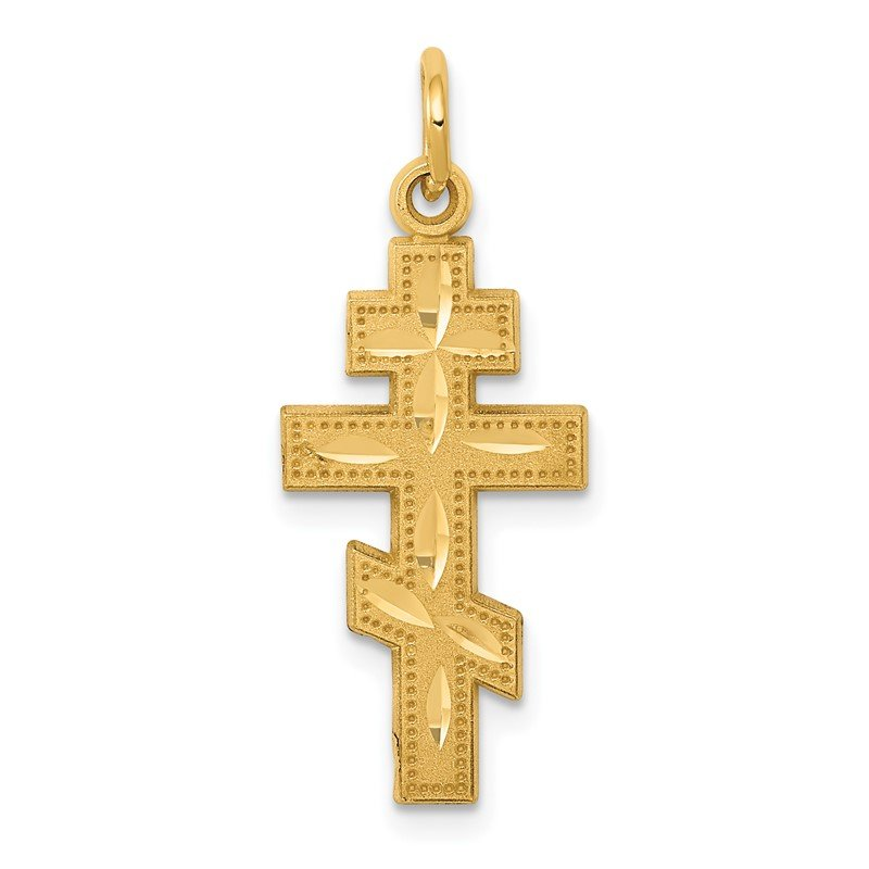 Quality Gold 14k Eastern Orthodox Cross Charm