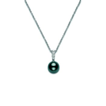 Morning Dew Pendant - Black South Sea Cultured Pearl