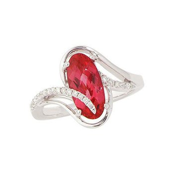 Padparadscha Ring-CR8267WPD