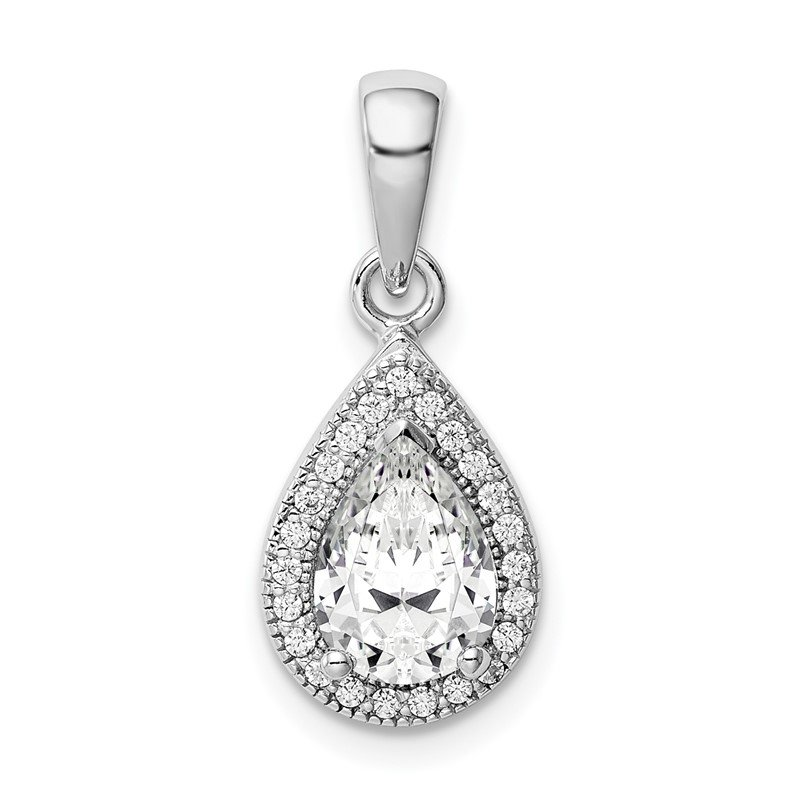 Lester Martin Online Collection Sterling Silver Rhodium Plated CZ Pendant