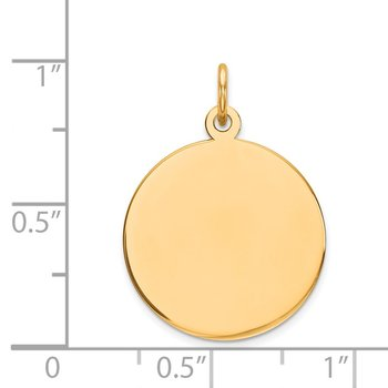14k Plain .027 Gauge Circular Engravable Disc Charm