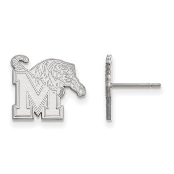 Sterling Silver University of Memphis NCAA Earrings