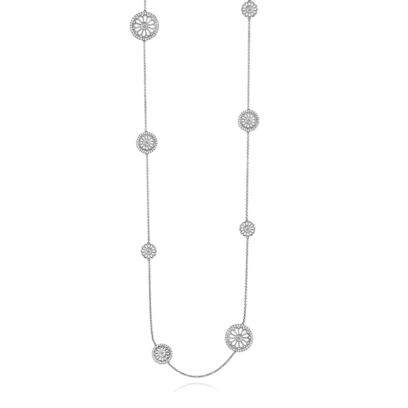 Roberto Coin Cento Rosette Station Necklace