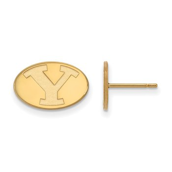Gold-Plated Sterling Silver Brigham Young University NCAA Earrings