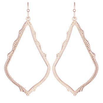 Sophee Drop Earrings In Rose