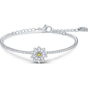 Eternal Flower Bangle, Yellow, Mixed metal finish