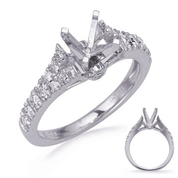 White Gold Diamind Engagement Ring