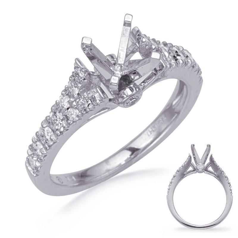 S. Kashi & Sons Bridal White Gold Diamind Engagement Ring