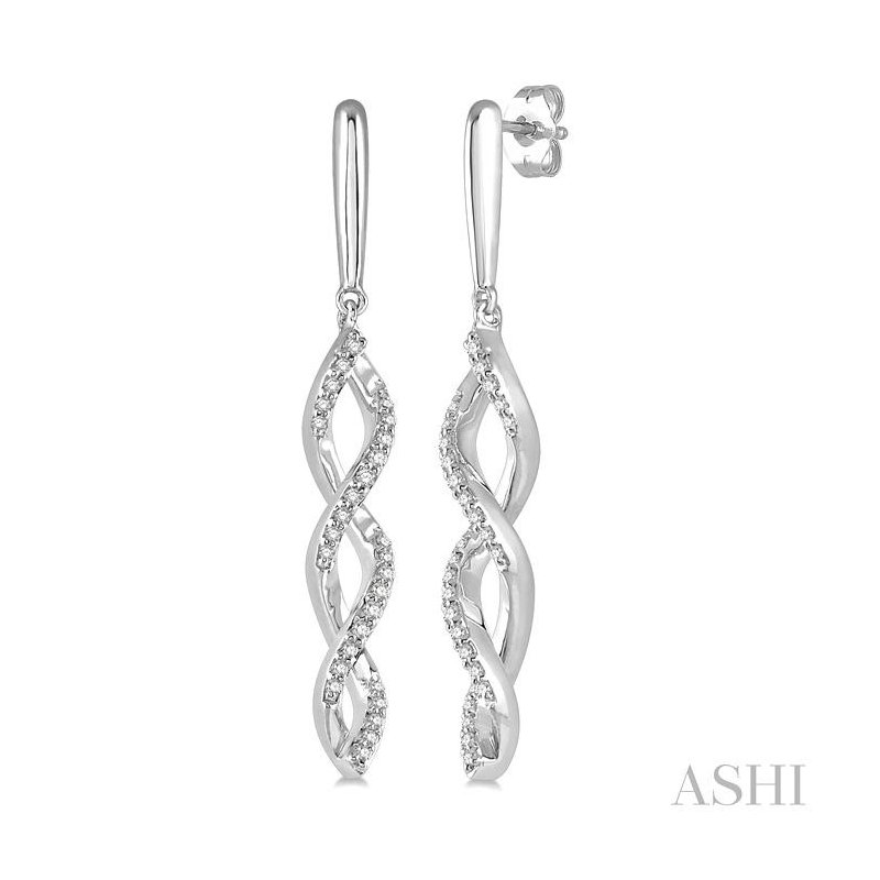 Gemstone Collection diamond swirl fashion earrings