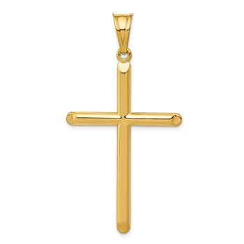 14k 3-D Hollow Cross Pendant