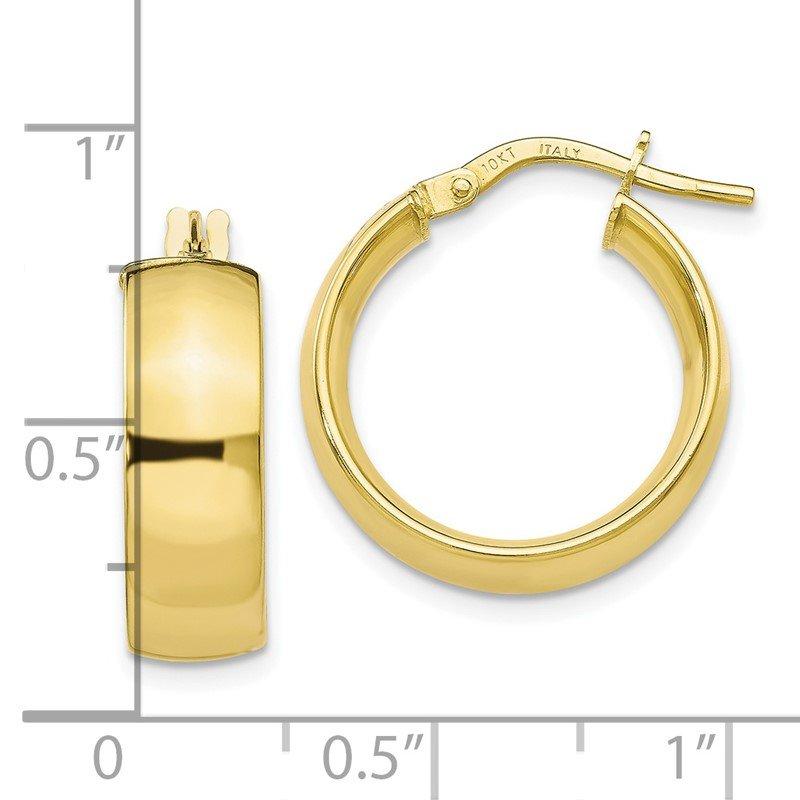 Leslie S 10k Gold Polished Hoop Earrings