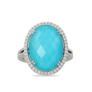 St. Barth's Blue and Diamond Ring