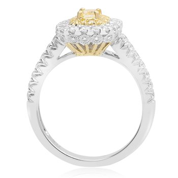 Paved Shank Two Tone Diamond Ring