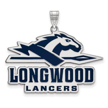 Sterling Silver Longwood University NCAA Pendant