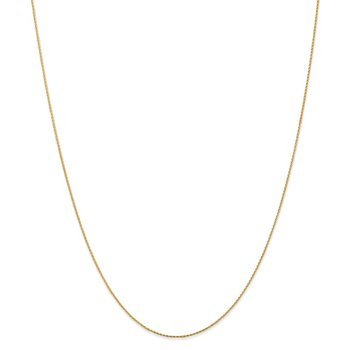 14k .8mm Parisian Diamond-cut Wheat Chain Anklet