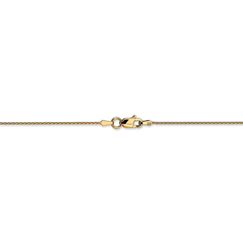 Quality Gold 14k .8mm D/C Parisian Wheat Chain Anklet