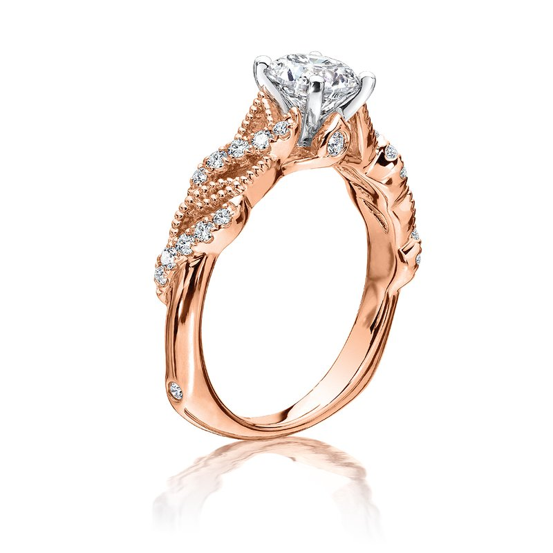 Valina Diamond Engagement Ring Mounting in 14K Rose Gold (.20 ct. tw.)