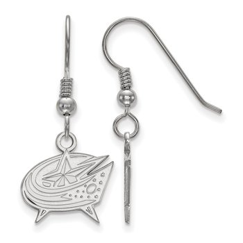 Sterling Silver Columbus Blue Jackets NHL Earrings