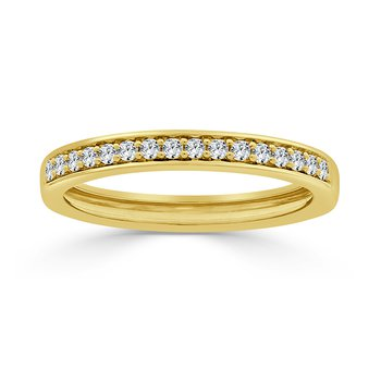 14 KT Yellow gold Matching band  (0.23 CTW)