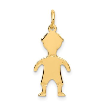 14k .018 Depth Engravable Boy Charm