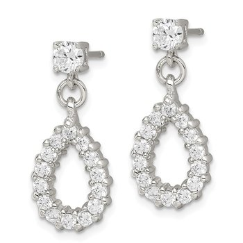 Sterling Silver Fancy CZ Earrings
