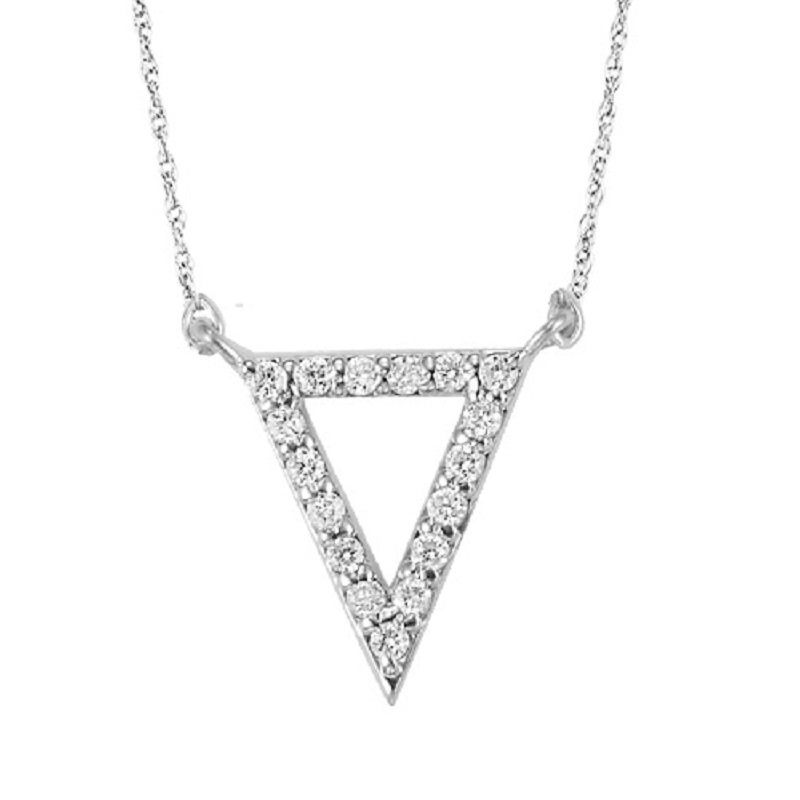 Mixables Silver Diamond Pendant 1/6 ctw