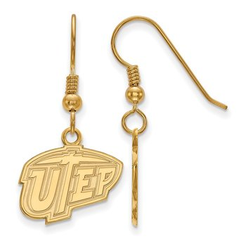 Gold-Plated Sterling Silver University of Texas at El Paso NCAA Earrings