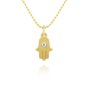 14k Gold and Diamond Hamsa