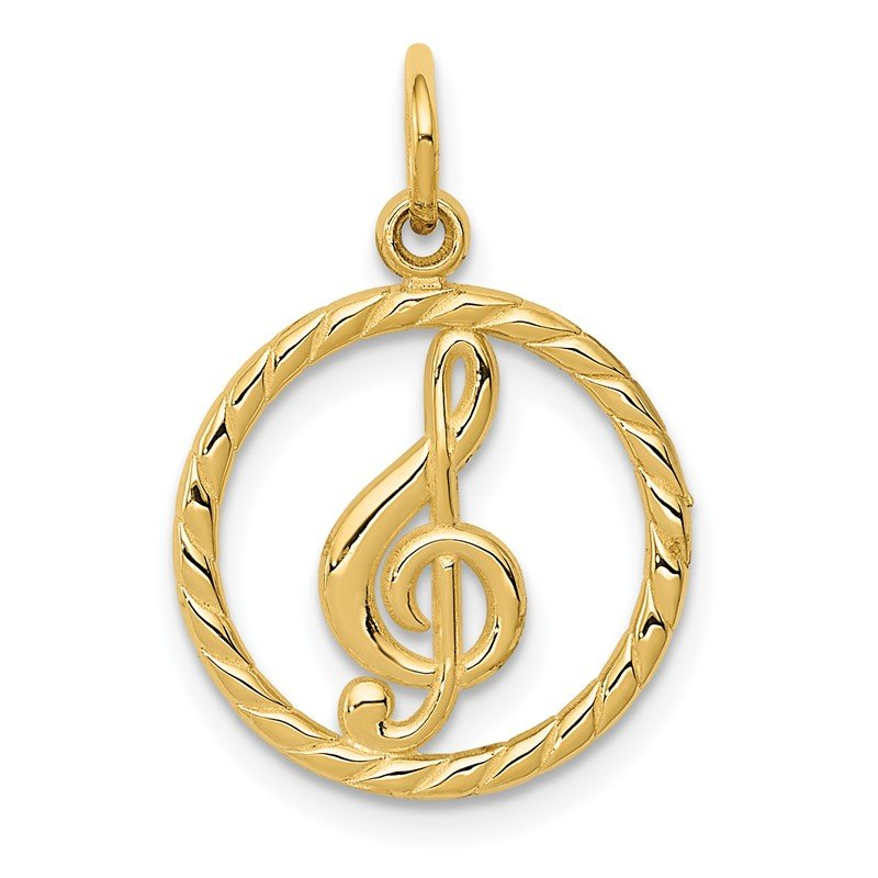 Quality Gold 14k Treble Clef Charm