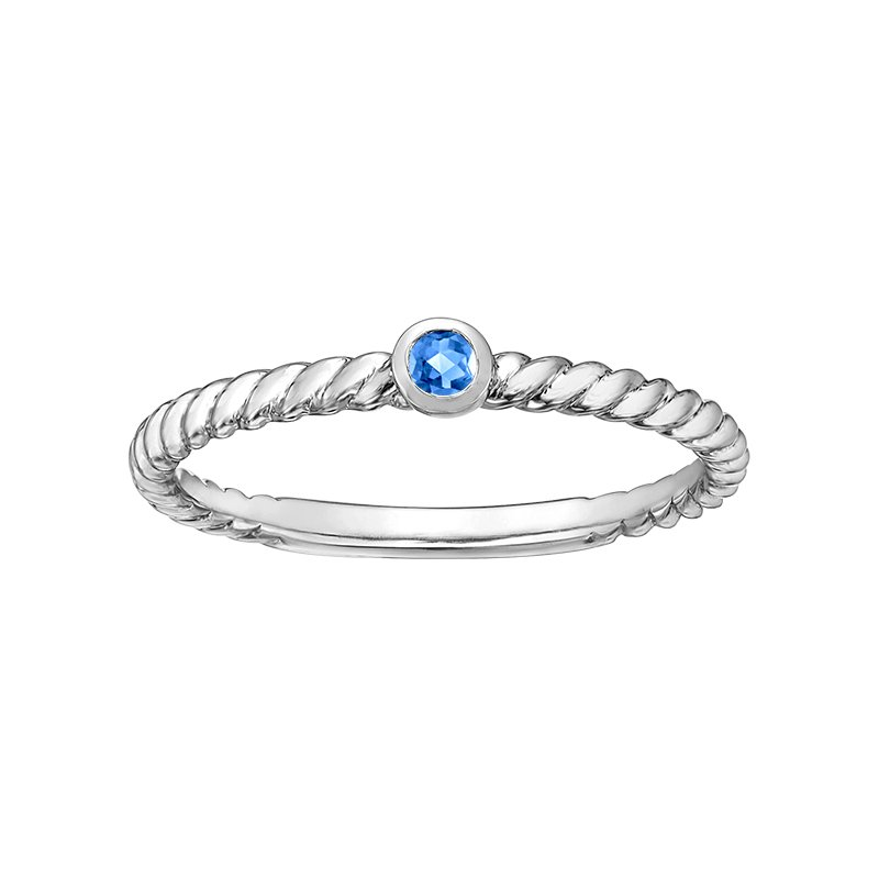 Diamond Days Blue Topaz Ladies Ring