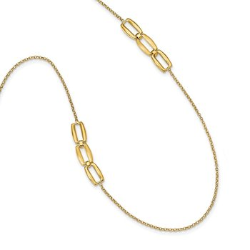 14K Brushed & Polished Fancy Necklace