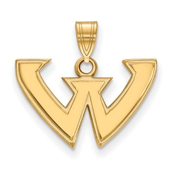 Gold-Plated Sterling Silver Wayne State University NCAA Pendant