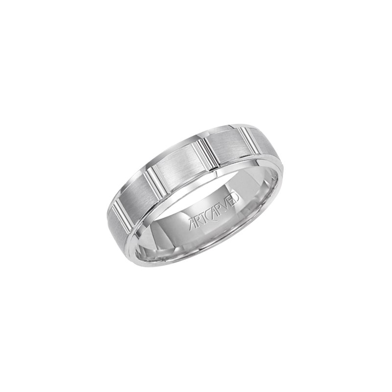 "ArtCarved 14K White Gold ""Hendon"" Comfort Fit Wedding Band"