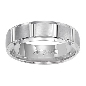 "14K White Gold ""Hendon"" Comfort Fit Wedding Band"