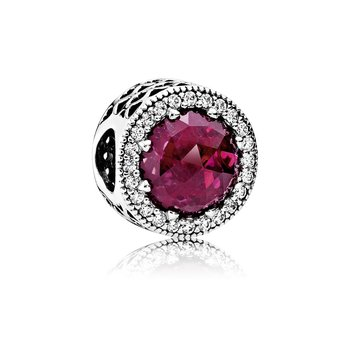 Radiant Hearts, Cerise Crystal Clear Cz